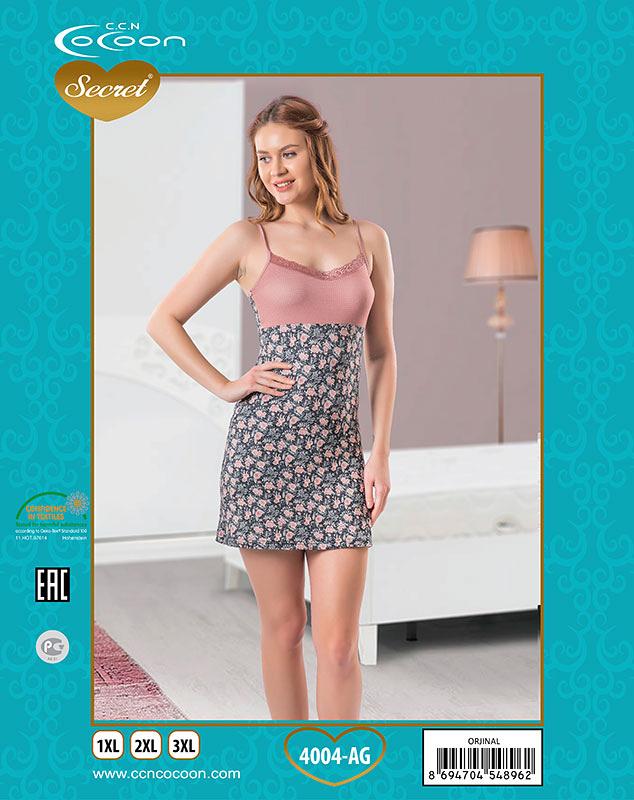 4cf066d4acd7 4004-AG - Сорочка женская Cocoon Secret - размер XL, Интернет-магазин  Элит-Сатин, Калуга